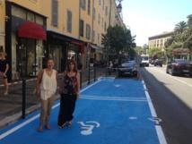 Deux nouvelles places de stationnement adaptées et rénovation de places existantes