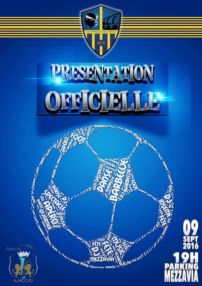 Présentation Olympique Mezzavia vendredi 9 septembre