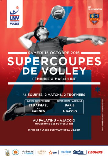 SuperCoupes de Volley Samedi 15 octobre 18h00 au Palatinu