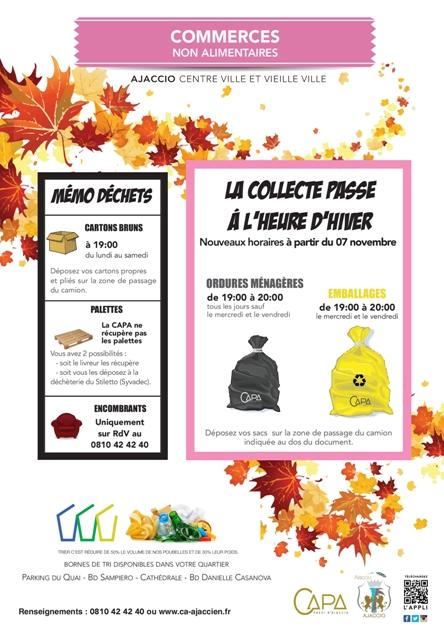 La collecte en sacs passe à l'heure d'hiver à partir du 7 novembre ...emballages, déchets ménagers et encombrants