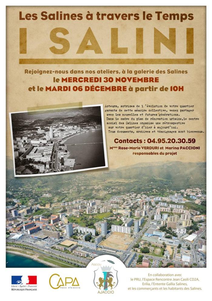 Collectes de photos, documents, archives et témoignages au centre commercial des Salines les 30 novembre et 6 décembre