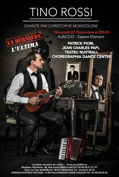 """Mercredi 7 décembre, 20h30 Concert : """"Tino Rossi chanté par Christophe Mondoloni"""""""