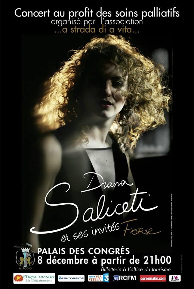 Concert Diana Salicetti et ses invités Jeudi 8 Décembre 21h00 Palais des Congrès