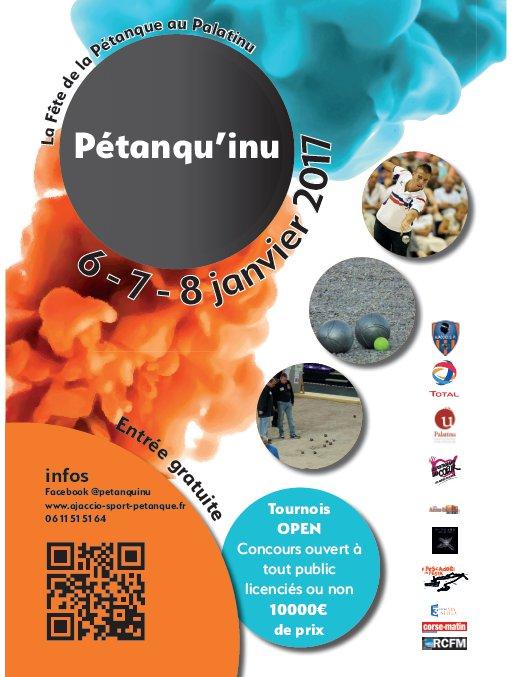 Pétanqu'inu du 6 au 8 janvier au Palatinu