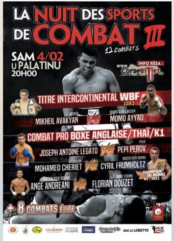 """""""La Nuit des Sports de Combat 3"""" au Palatinu"""