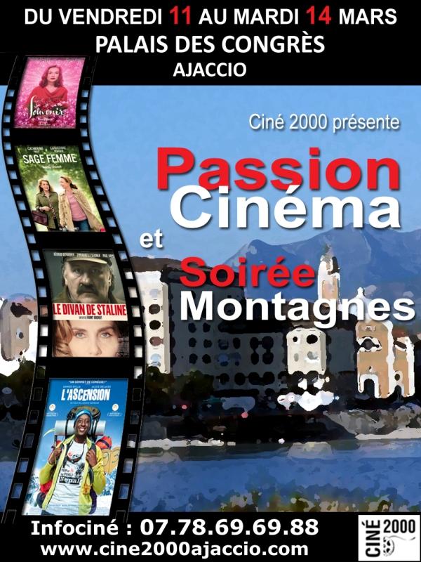 Festival Passion Cinéma 10 au 14 mars Palais des Congrès d'Ajaccio