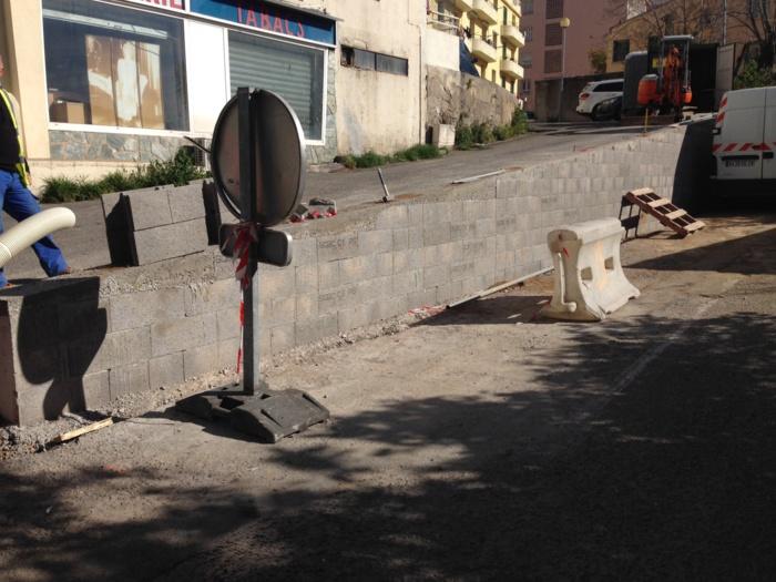 Réfection du mur de soutènement de la Rue des Pommiers