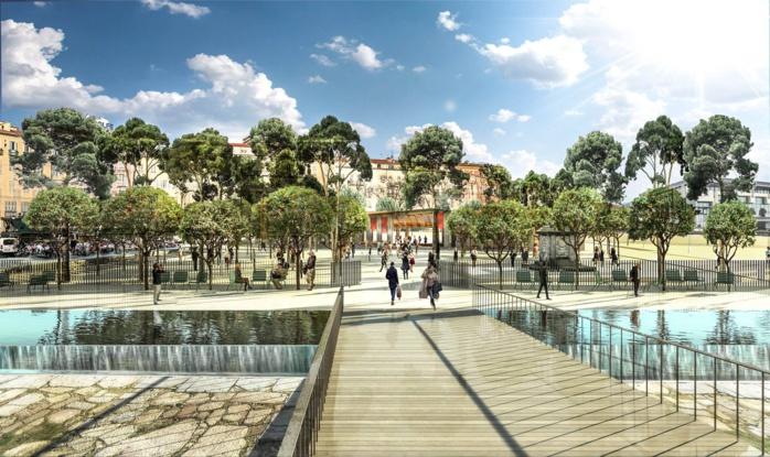 Aménagement de la future Place Campinchi Zone jardin d'enfants Elisa