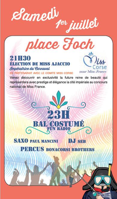 Programme du Carnaval de la Ville d'Ajaccio 2017 Samedi 1er et Dimanche 2 juillet