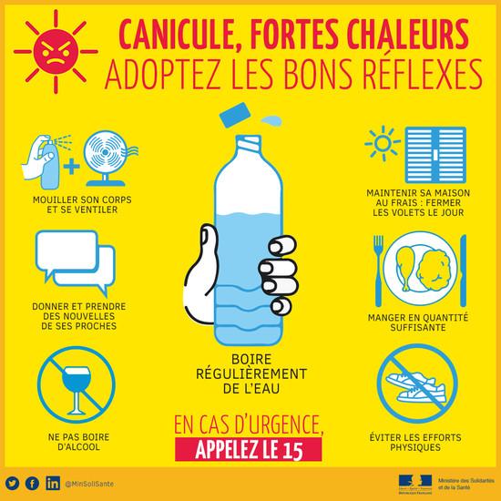 """""""Plan canicule et forte chaleur"""" le Centre Communal d'Action Sociale est mobilisé"""