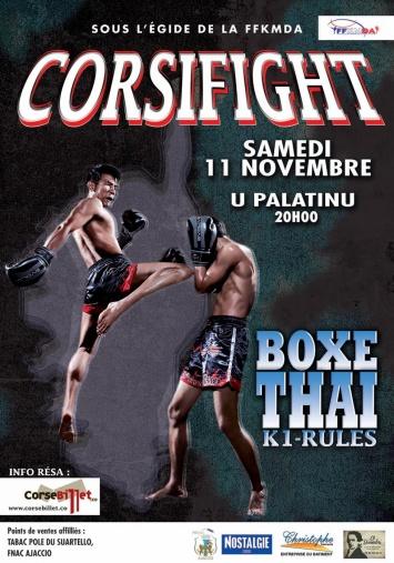 Corsifight Boxe Thai Samedi 11 Novembre 2017 au Palatinu