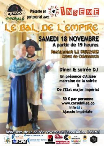 Le Bal de l'Empire samedi 18 novembre