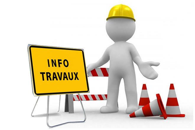 Travaux de réfection de trottoir restriction de stationnnement et de circulation Rue François Maglioli