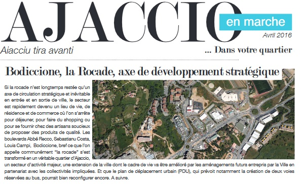 Ajaccio en Marche dans votre quartier : Rocade, Bodiccione...