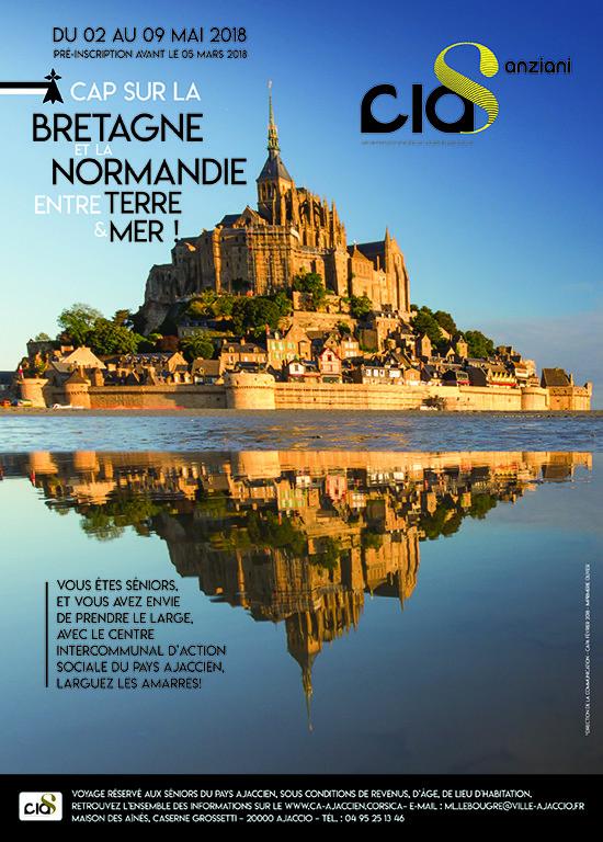 Voyage sénior Bretagne/Normandie du 02 au 09 Mai