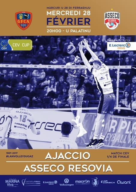Coupe d'Europe 1/4 de finale GFCA / RZESZOW mercredi 28 février à 20h au Palatinu