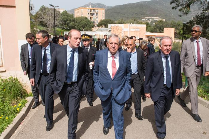 Retour en image sur la visite de terrain à Ajaccio du ministre Jacques Mézard du Ministère de la Cohésion des Territoires le 14 avril 2018