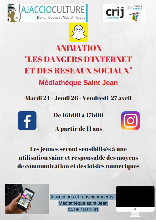 Atelier « cyber-prévention » Médiathèque Saint Jean