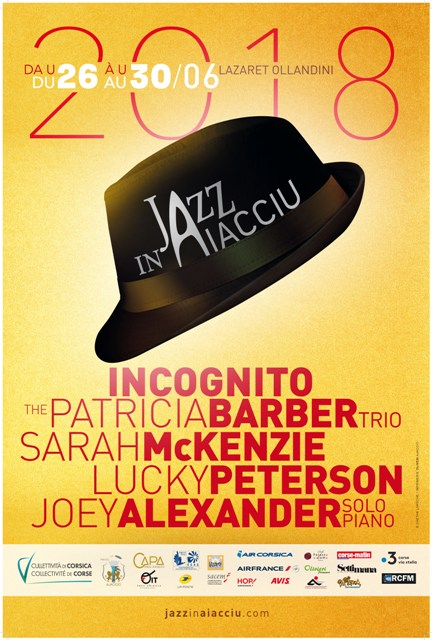 Jazz in Aiacciu 2018 du 26 au 30 juin au Lazaret Ollandini