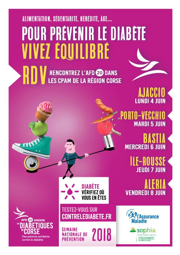 Semaine Nationale de Prévention du Diabète 2018 en Corse