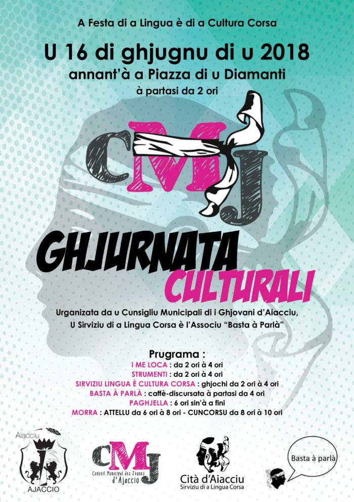 """Le CMJ organise """"A Ghjurnata Culturali"""" le 16 juin sur la place du Diamant"""