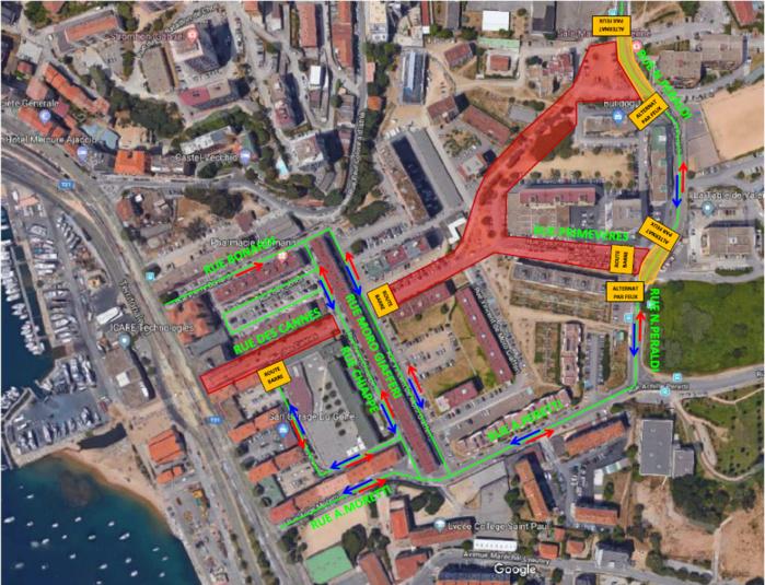Travaux PRU Rue Nicolas Peraldi Info circulation