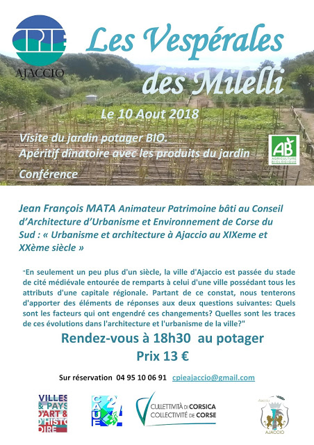 """""""Les Vespérales"""" au domaine des Milelli vendredi 10 août 18h30"""