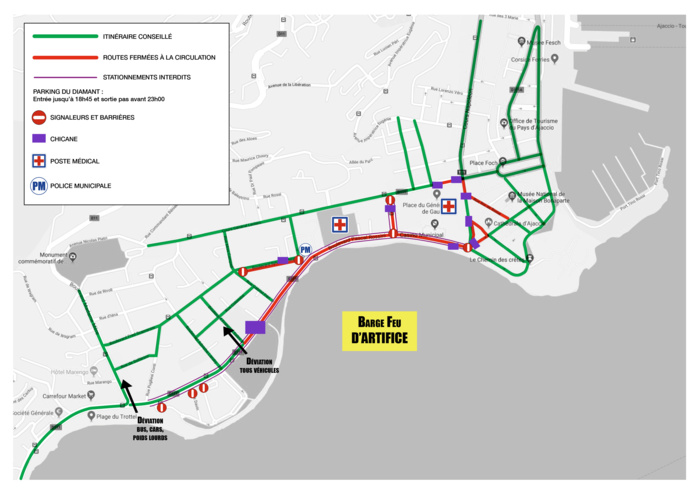 Plan de circulation du 15 août 2018