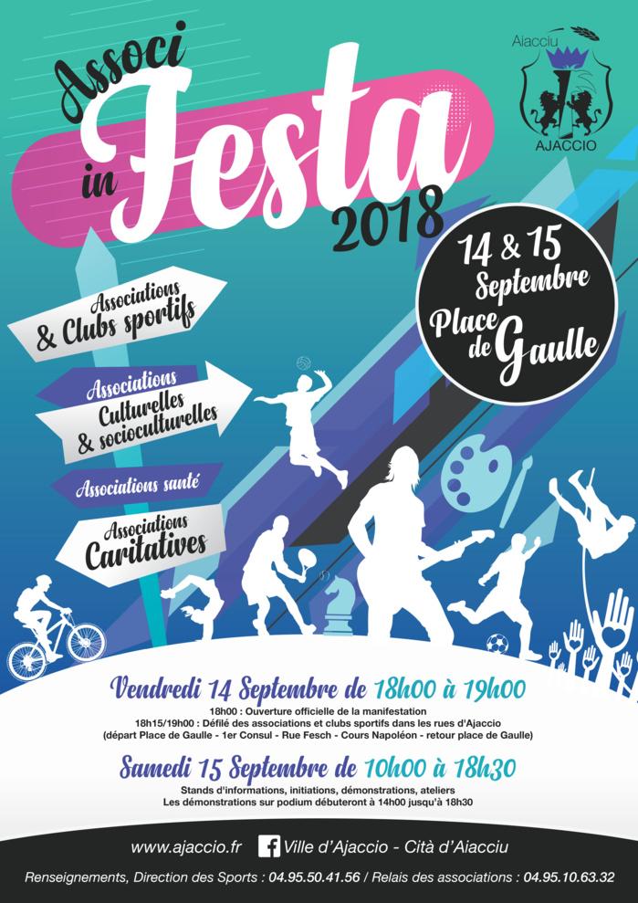 « ASSOCI IN FESTA » Fête du Sport et des Associations les 14 et 15 septembre Place de Gaulle