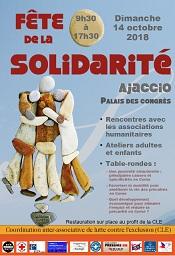 Fête de la Solidarité dimanche 14 octobre Palais des Congrès d'Ajaccio