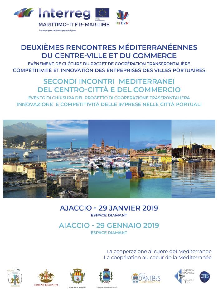 SAVE THE DATE : Ajaccio 29 janvier 2019 - Deuxième rencontres méditerranéennes du centre-ville et du commerce