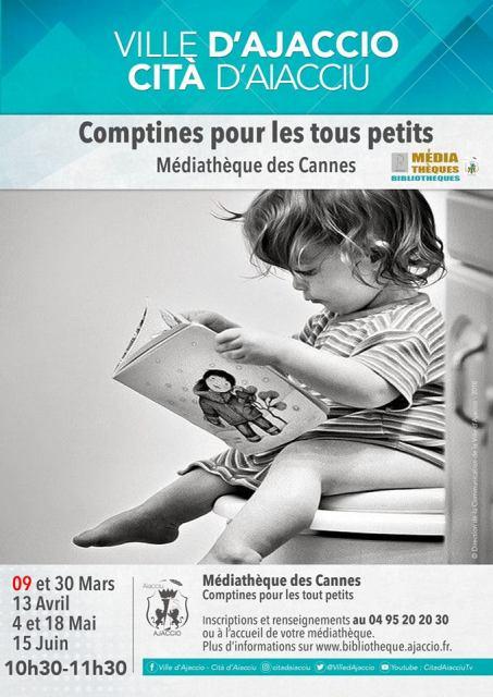 Comptines pour les petits Médiathèque des Cannes