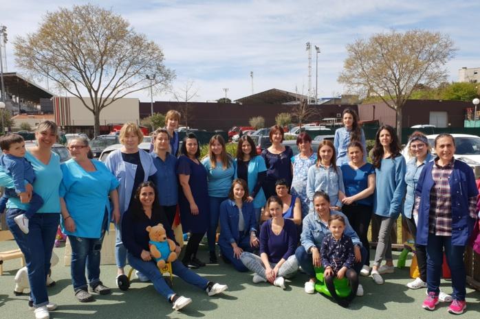 """Le multi-accueil A Ciucciarella en bleu pour la """"Journée mondiale de l'autisme"""""""