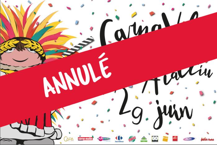 U Carnavali d'Aiacciu annulé