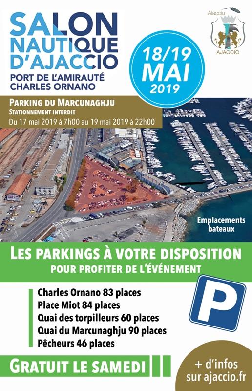Salon nautique d'Ajaccio du 17 au 19 mai, infos stationnement