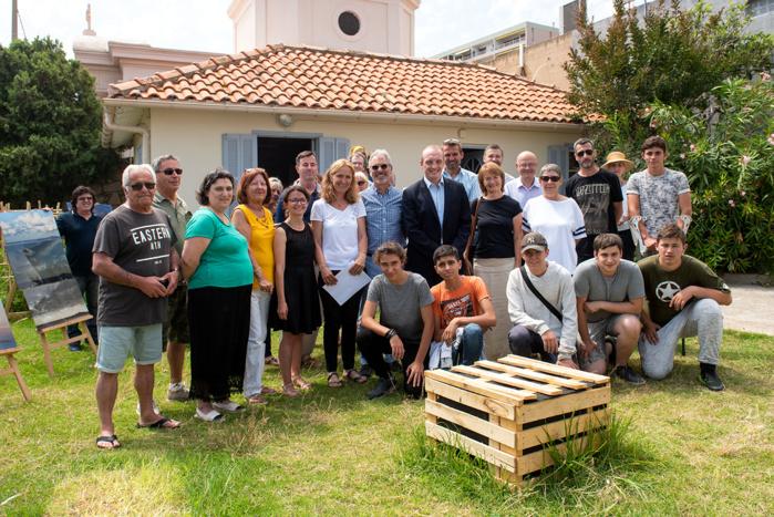 Autour du maire d'Ajaccio, ils sont venus nombreux inaugurer le jardin partagé et la rénovation de la MSP de la Résidence des Îles (Photos Ville d'Ajaccio).