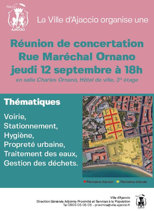 Concertation secteur Maréchal Ornano, Diamant et avenue de Paris, jeudi 12 septembre 18h