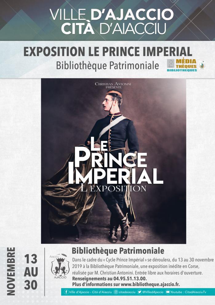 Le Prince Impérial, L'exposition du 13 au 30 novembre à la Bibliothèque Patrimoniale