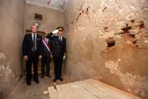 Visite de la cellule où Fred Scamaroni s'est donné la mort.
