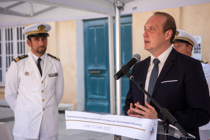 Ajaccio marraine du navire militaire Commandant Ducuing