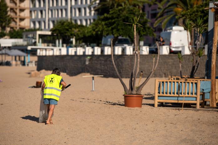 Ce mercredi 22 juillet s'est déroulée l'opération plage propre. Plage du Trottel (photo Ville d'Ajaccio)