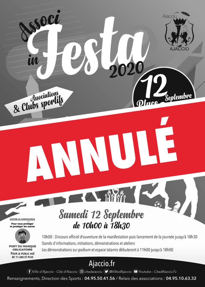 Annulation d'Associ In Festa 2020