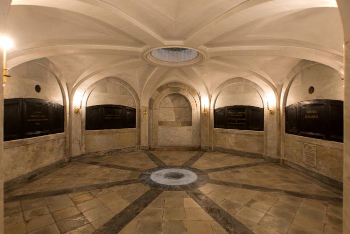 Les caveaux de la famille Bonaparte (Photos Ville d'Ajaccio).