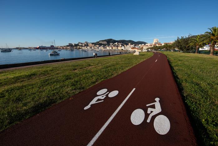 Une nouvelle piste cyclable à Ajaccio