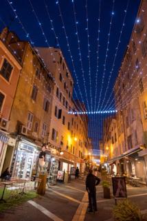 Le ciel étoilé de la rue Fesch (Photos Ville d'Ajaccio).