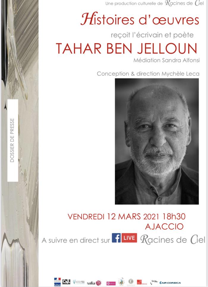Tahar Ben Jelloun invité d'Histoires d'œuvres le 12 mars 18h30 en direct sur Facebook