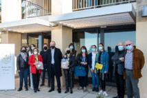 Le Rotary-club doyen d'Ajaccio remercie les agents du centre de vaccination de l'Espace Diamant