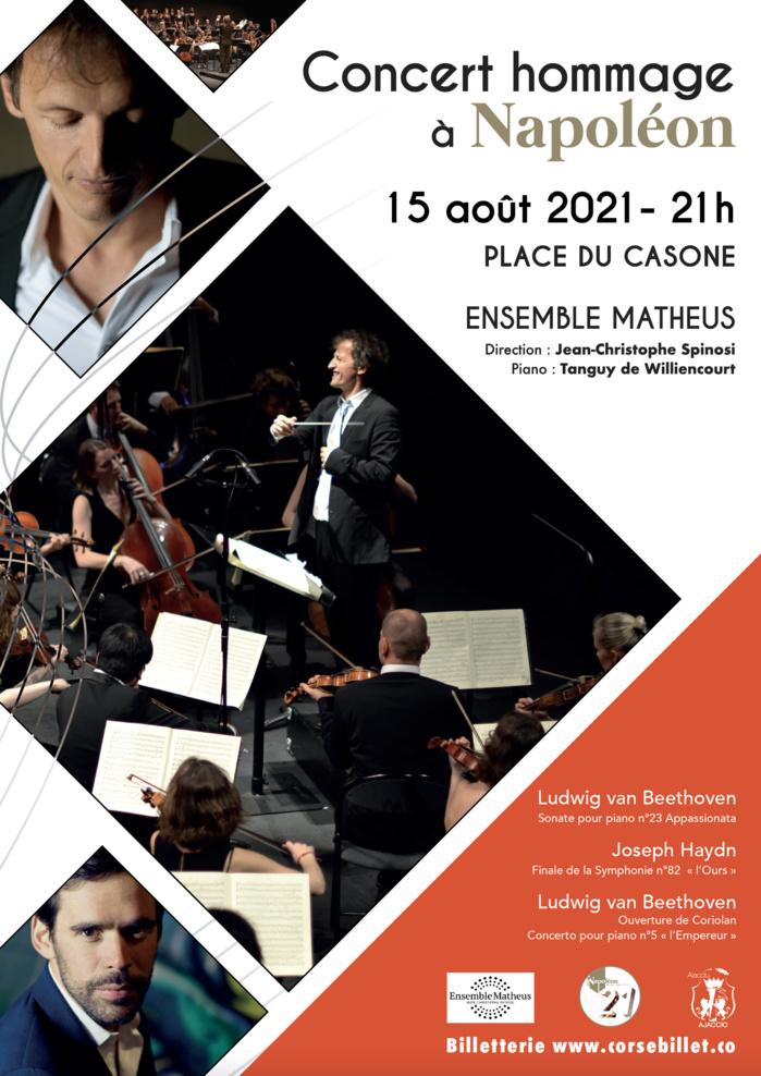 15 août : Concert hommage à Napoléon