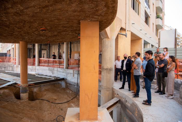 Visite d'étape de l'antiquarium d'où seront visibles les vestiges paléochrétien quartier Saint-Jean (Photos Ville d'Ajaccio).