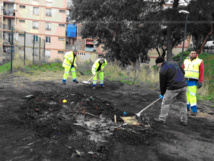 Intervention spéciale de la propreté urbaine aux Jardins de l'Empereur